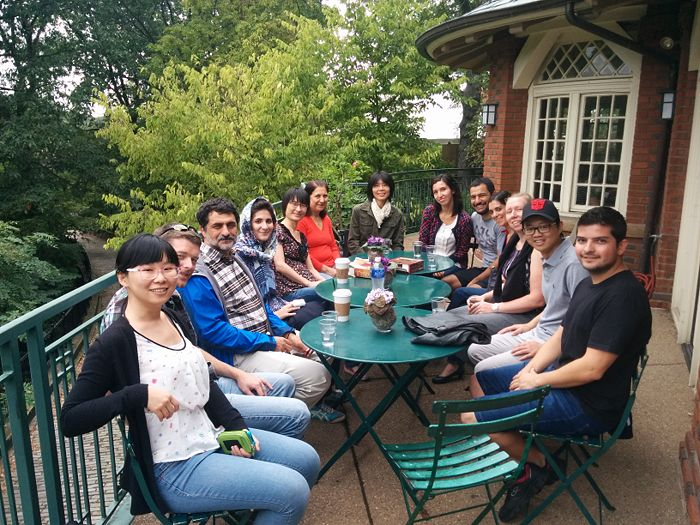 Claudia's farewell lunch at Schenley Park Café (Aug. 27, 2015)