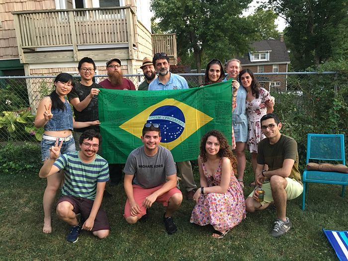 Saying goodbye to Rafael in our multi-reasons BBQ celebration! (July. 25, 2016)